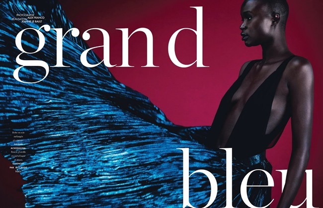ELLE FRANCE Ataui Deng in Grand Bleu by Alex Franco. Jeanne le Bault, May 2014, www.imageamplified.com, Image Amplified (1)