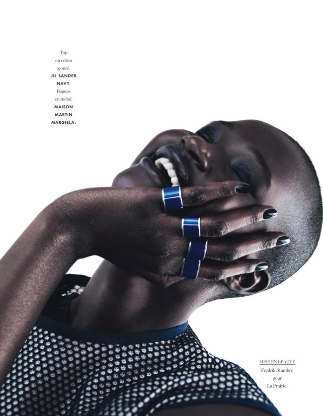 ELLE FRANCE Ataui Deng in Grand Bleu by Alex Franco. Jeanne le Bault, May 2014, www.imageamplified.com, Image Amplified (2)