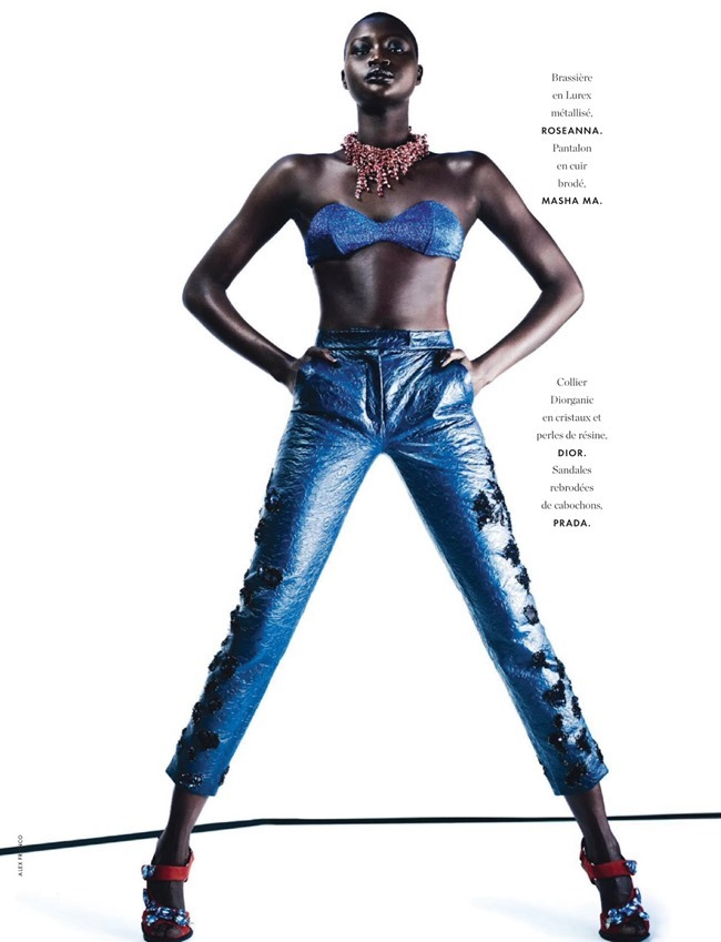 ELLE FRANCE Ataui Deng in Grand Bleu by Alex Franco. Jeanne le Bault, May 2014, www.imageamplified.com, Image Amplified (5)