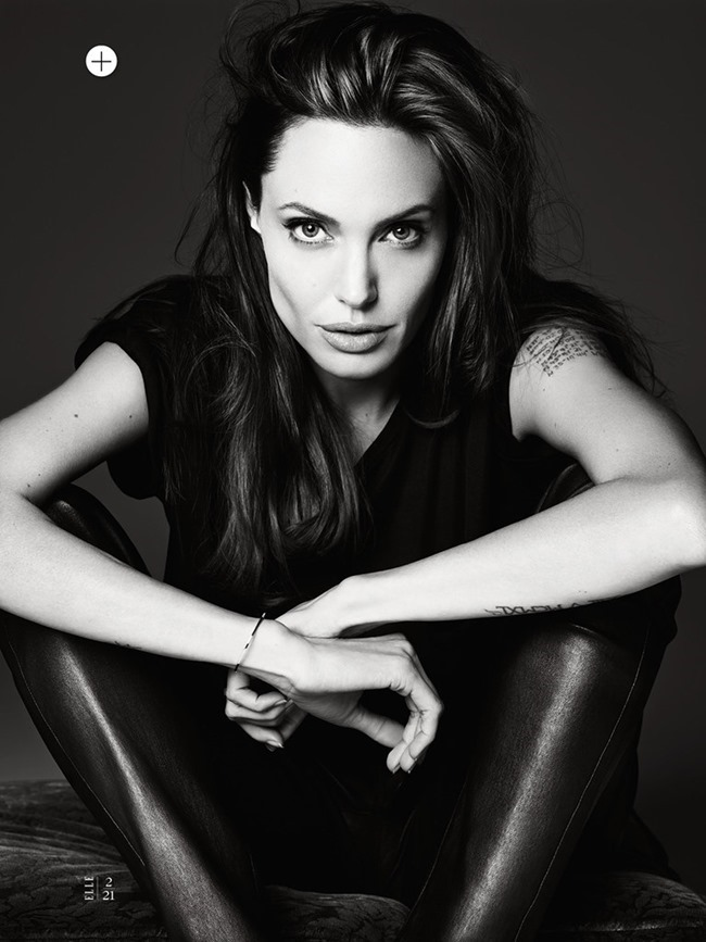ELLE MAGAZINE Angelina Jolie in Untamed Heart by Hedi Slimane. Joe Zee, June 2014, www.imageamplified.com, Image Amplified (4)
