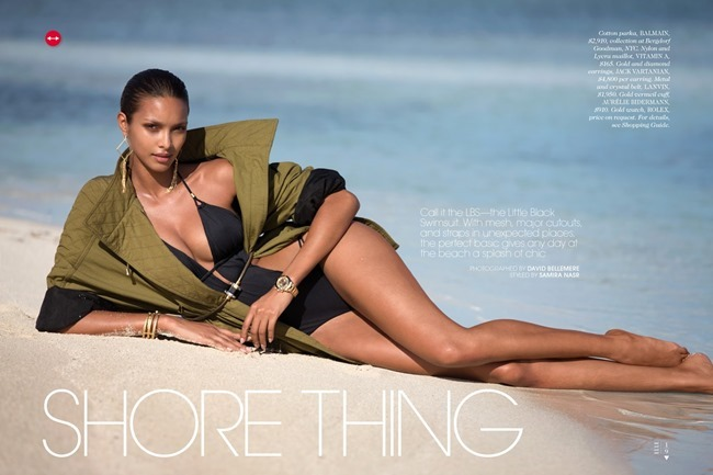 ELLE MAGAZINE Lais Ribeiro in Shore Thing by David Bellemere. Samira Nasr, June 2014, www.imageamplified.com, Image Amplified (1)