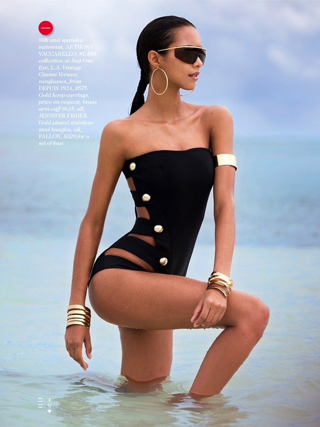 ELLE MAGAZINE Lais Ribeiro in Shore Thing by David Bellemere. Samira Nasr, June 2014, www.imageamplified.com, Image Amplified (4)