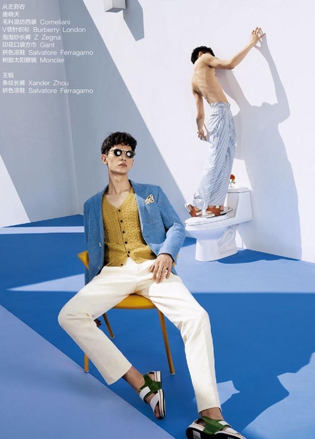 GQ CHINA Wang Rui & Tang Xiaotian in Pastel Summer by Guo Puyuan. Arison Chen, May 2014, www.imageamplified.com, Image Amplified (3)