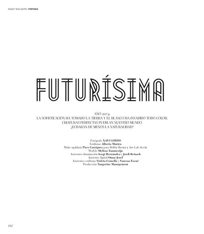 RABAT MAGAZINE Melissa Tammerijn in Futurisma by Xavi Gordo. Alberto Murtra, Spring 2014, www.imageamplified.com, IMage Amplified (1)