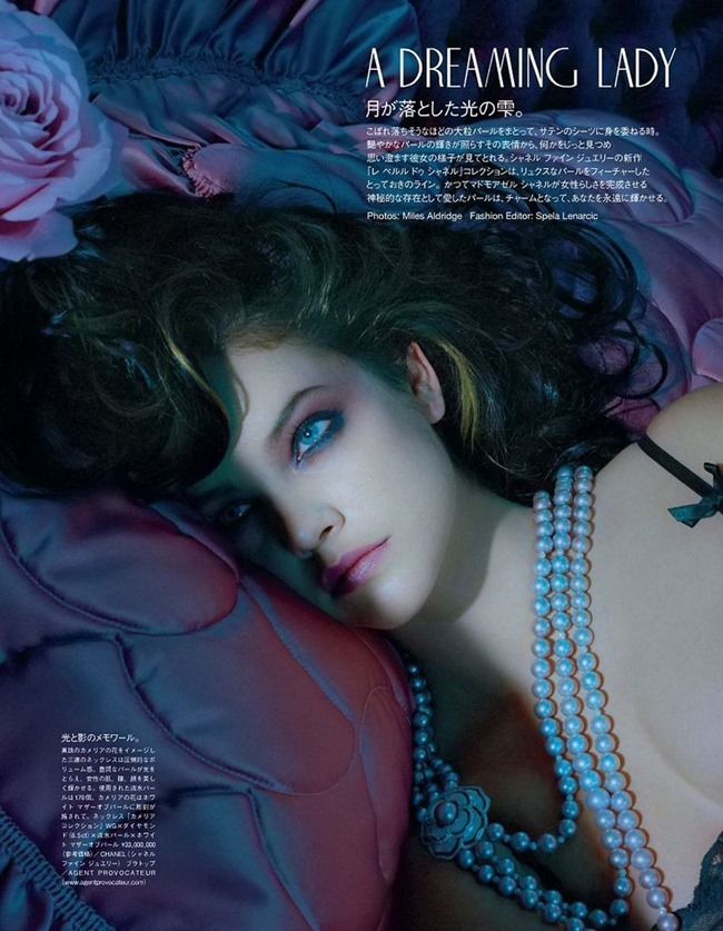 VOGUE JAPAN Barbara Palvin in A Dreaming Lady by Miles Aldridge. Kerry Warn, June 2014, www.imageamplified.com, Image Amplified (1)