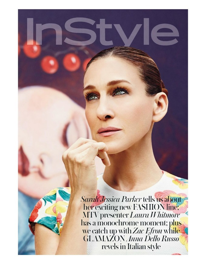 INSTYLE UK Sarah Jessica Parker in True Colours by Giampaolo Sgura. Melissa Rubini, May 2014, www.imageamplified.com, Image amplified