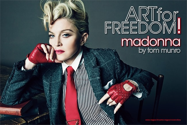 L'UOMO VOGUE Madonna in Art for Freedom by Tom Munro. Arianne Phillips, June 2014, www.imageamplified.com, Image Amplified (1)