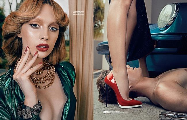 HARPER'S BAZAAR CHINA Niki Hajdu in Femme Fatale by Shxpir. Leticia Dare, Spring 2014, www.imageamplified.com, Image Amplified (3)