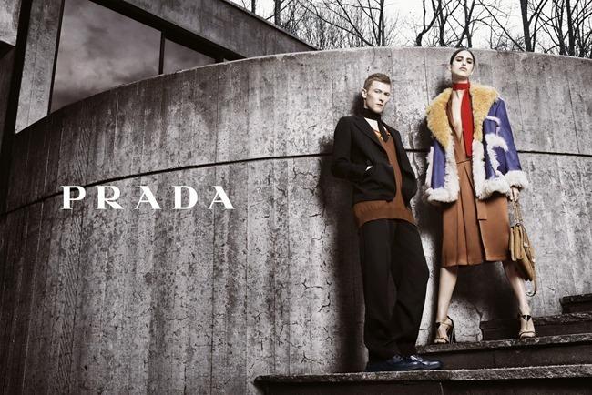 CAMPAIGN Mica Arganaraz & Karl Kolbitz for Prada Fall 2014 by Steven Meisel. www.imageamplified.com, Image Amplified (2)