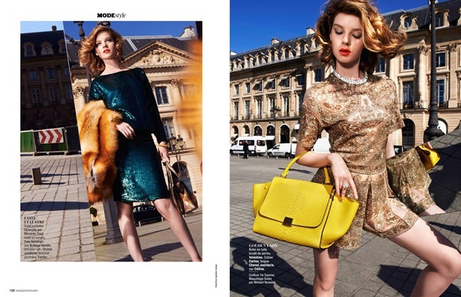 MADAME FIGARO FRANCE Gwen Loos in Le Chic Glitter by Naomi Yang. Sophie Michaud, May 2014, www.imageamplified.com, Image Amplified (6)