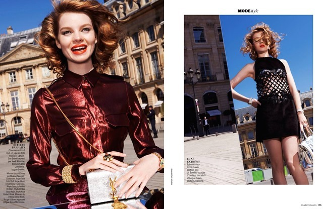 MADAME FIGARO FRANCE Gwen Loos in Le Chic Glitter by Naomi Yang. Sophie Michaud, May 2014, www.imageamplified.com, Image Amplified (5)