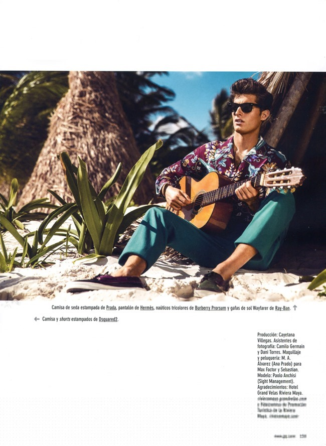 GQ SPAIN Paolo Anchisi in Aloha by Richard Ramos. Joana de la Fuente, Summer 2014, www.imageamplified.comm, Image Amplified (9)