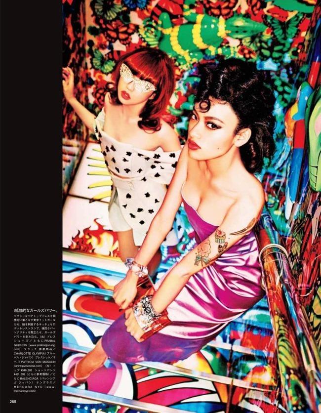 VOGUE JAPAN Tokyo Neon Girls by Ellen von Unwerth. Elizabeth Sulcer, July 2014, www.imageamplified.com, Image amplified (5)