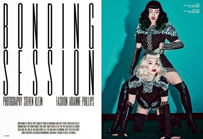 V MAGAZINE Madonna & Katy Perry in Bonding Session by Steven Klein. Arianne Phillips, Summer 2014, www.imageamplified.com, Image Amplified (7)