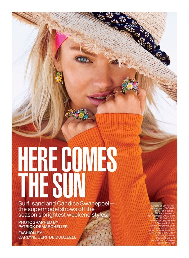 LUCKY MAGAZINE Candice Swanepoel in Here Comes The Sun by Patrick Demarchelier. Carlyne Cerf de Dudzeele, June 2014, www.imageamplified.com, Image Amplified (1)