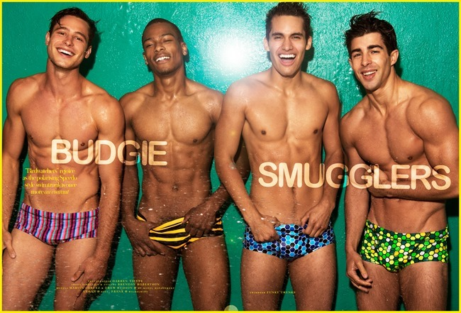 DORIAN MAGAZINE Marvin Cortez, Drew Hudson & Ethan in Budgie Smugglers by Darren Tieste. Brendan Robertson, Summer 2014, www.imageamplified.com, Image Amplified (1)