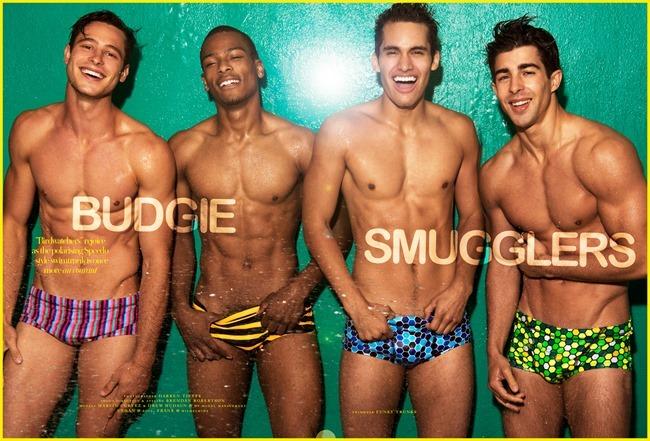 DORIAN MAGAZINE Marvin Cortez, Drew Hudson & Ethan in Budgie Smugglers by Darren Tieste. Brendan Robertson, Summer 2014, www.imageamplified.com, Image Amplified (1)