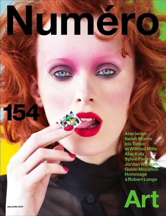 NUMERO MAGAZINE Karen Elson in Sarah Morris by Victor Demarchelier. Charles Varenne, July 2014, www.imageamplified.com, Image Amplified (1)