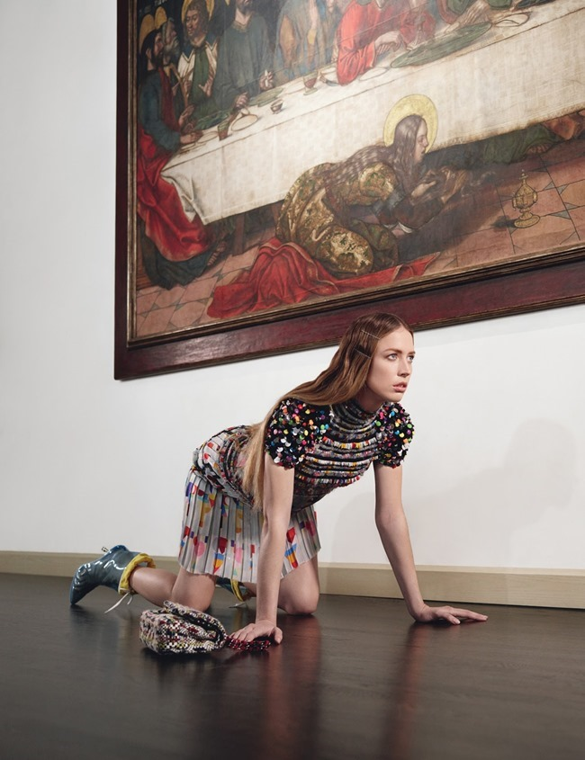 W MAGAZINE Raquel Zimmermann in Art Walk by Willy Vanderperre. Edward Enninful, July 2014, www.imageamplified.com, Image Amplified (15)