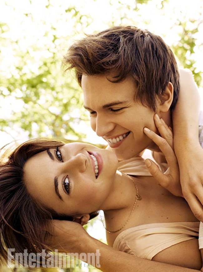 ENTERTAINMENT WEEKLY MAGAZINE Shailene Woodley & Ansel Elgort by Peggy Sirota. May 2014, www.imageamplified.com, Image Amplified (2)