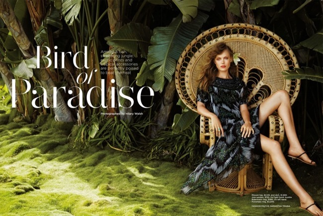 C MAGAZINE Frida Gustavsson in Bird of Paradise by Hilary Walsh. Samantha Traina, Summer 2014, www.imageamplified.com, Image Amplified (1)