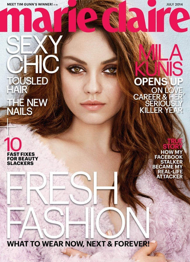 MARIE CLAIRE MAGAZINE Mila Kunis by Tesh. July 2014, www.imageamplified.com, Image Amplified (2)