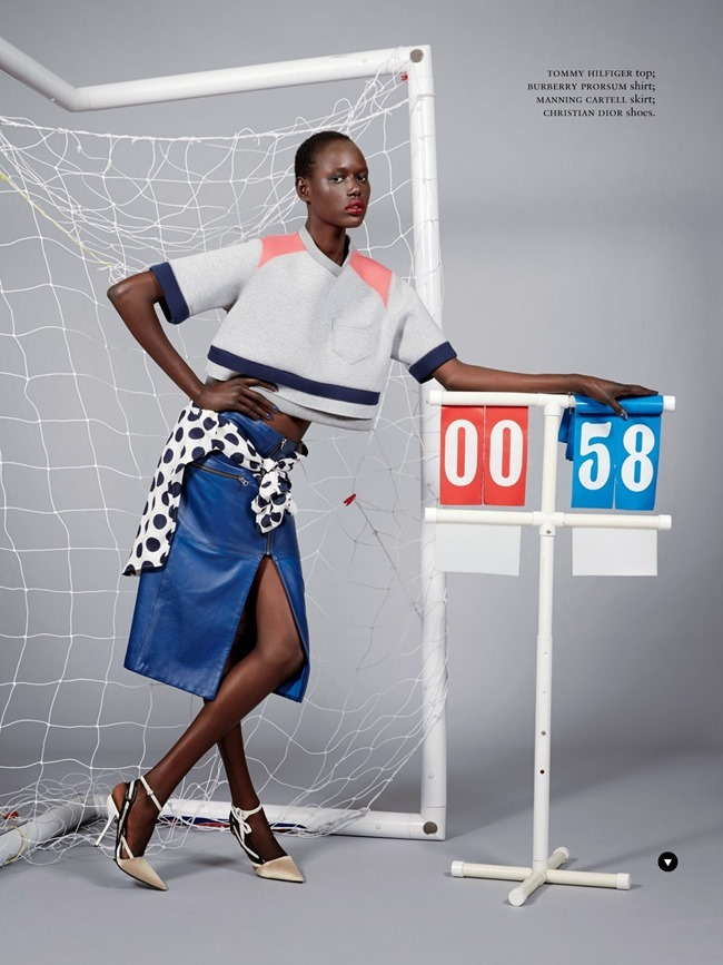 RUSSH MAGAZINE Ajak Deng in She's Got Game by James Nelson. Bille Iveson, July 2014, www.imageamplified.com, Image Amplified (2)