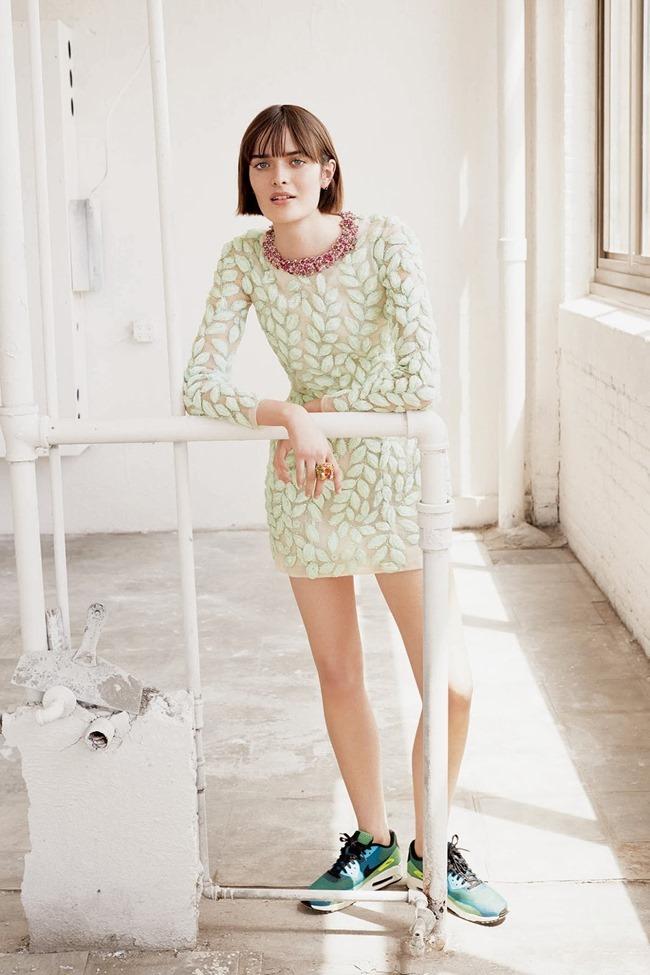 WSJ MAGAZINE Sam Rollinson in Kick It In Couture by Maciek Kobielski. Anastasia Barbieri, August 2014, www.imageamplified.com, Image Amplified (5)