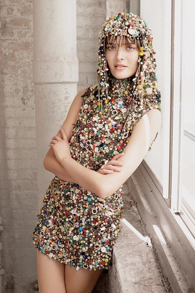 WSJ MAGAZINE Sam Rollinson in Kick It In Couture by Maciek Kobielski. Anastasia Barbieri, August 2014, www.imageamplified.com, Image Amplified (7)