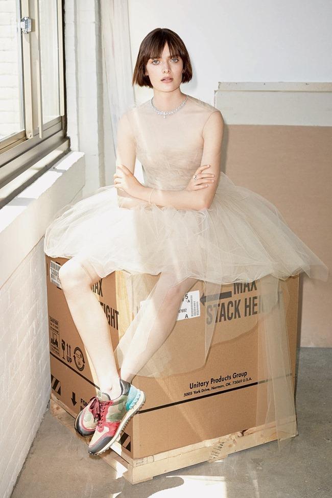 WSJ MAGAZINE Sam Rollinson in Kick It In Couture by Maciek Kobielski. Anastasia Barbieri, August 2014, www.imageamplified.com, Image Amplified (8)
