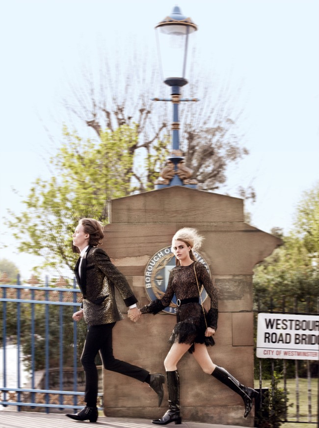 VOGUE MAGAZINE Cara Delevigne, Josh Nickerson & Matthew Whitehouse in Mod Goddes by Mario Testino. Grace Coddington, July 2014, www.imageamplified.com, Image Amplified (5)