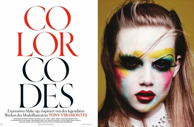 VOGUE GERMANY- Holly Rose & Jenna Earle in Color Codes by Ben Hassett. Karen Kaiser, January 2014, www.imageamplified.com, Image amplified