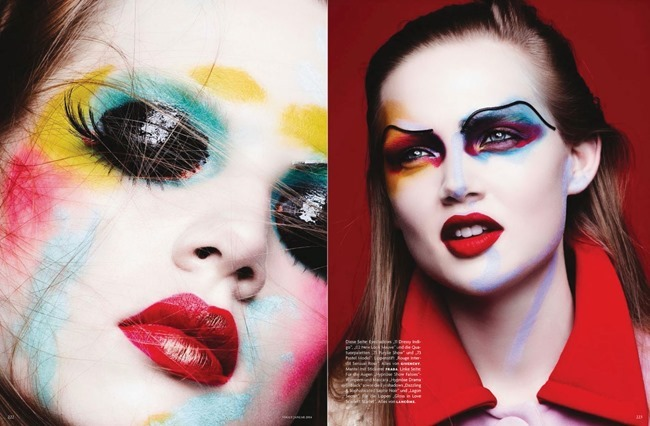 VOGUE GERMANY- Holly Rose & Jenna Earle in Color Codes by Ben Hassett. Karen Kaiser, January 2014, www.imageamplified.com, Image amplified (1)