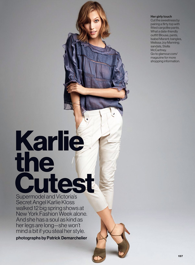GLAMOUR MAGAZINE Karlie Kloss in Karlie The Cutest by Patrick Demarchelier. Anne Christensen, February 2014, www.imageamplified.com, Image Amplified (2)