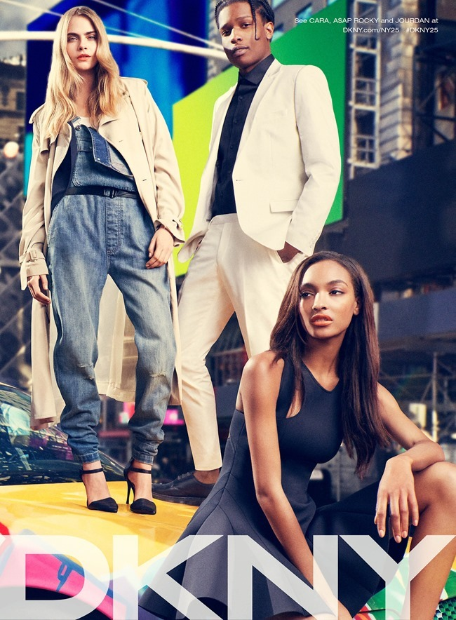 CAMPAIGN Cara Delevigne, Jourdan Dunn, Eliza Cummings & ASAP Rocky for DKNY Summer 2014. www.imageamplified.com, Image Amplified (2)