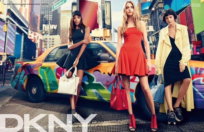 CAMPAIGN Cara Delevigne, Jourdan Dunn, Eliza Cummings & ASAP Rocky for DKNY Summer 2014. www.imageamplified.com, Image Amplified (3)