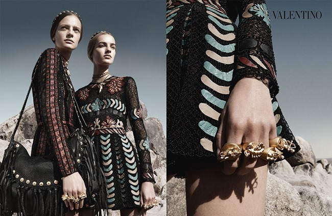 CAMPAIGN Malaika Firth, Auguste Abeliunaite, Ine Neefs, Esther Heesch & Maartje Verhoef for Valentino Spring 2014 by Craig McDean. Karl Templer, www.imageamplified.com, Image Amplified (2)