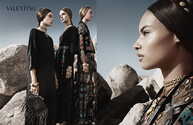 CAMPAIGN Malaika Firth, Auguste Abeliunaite, Ine Neefs, Esther Heesch & Maartje Verhoef for Valentino Spring 2014 by Craig McDean. Karl Templer, www.imageamplified.com, Image Amplified (5)
