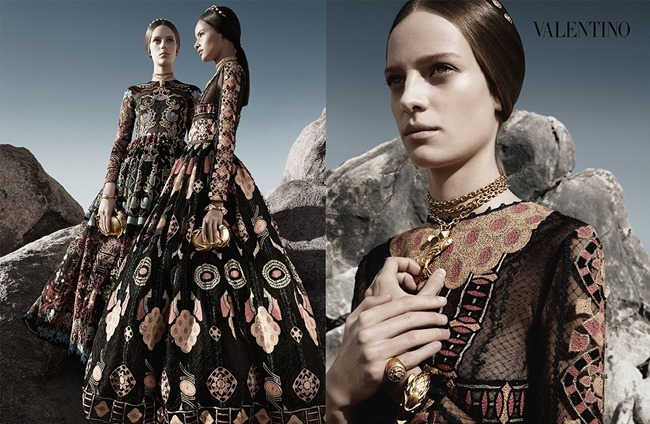 CAMPAIGN Malaika Firth, Auguste Abeliunaite, Ine Neefs, Esther Heesch & Maartje Verhoef for Valentino Spring 2014 by Craig McDean. Karl Templer, www.imageamplified.com, Image Amplified (14)
