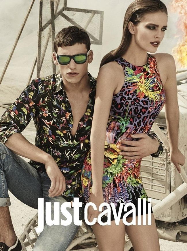 CAMPAIGN Adrian Cardoso, Mariano Ontanon, Emily DiDonato & Samantha Gradoville for Just Cavalli Spring 2014 by Giampaolo Sgura. Veronique Didry, www.imageamplified.com, Image Amplified (7)
