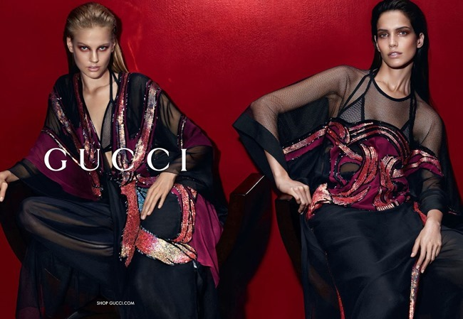CAMPAIGN Amanda Murphy, Elizabeth Erm, Luca Stacheit & Tommaso de Benedictis for Gucci Spring 2014 by Mert & Marcus. www.imageamplified.com, Image amplified (1)