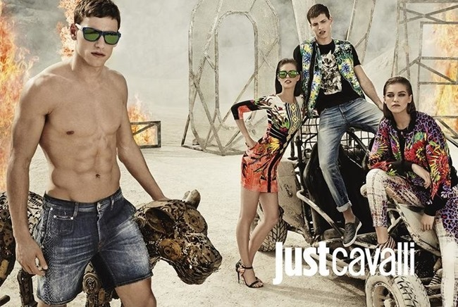 CAMPAIGN Adrian Cardoso, Mariano Ontanon, Emily DiDonato & Samantha Gradoville for Just Cavalli Spring 2014 by Giampaolo Sgura. Veronique Didry, www.imageamplified.com, Image Amplified (1)