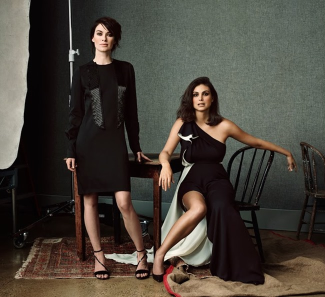 THE EDIT MAGAZINE Jessica Pare, Lena Headey, Morena Baccarin & Anna Gunn in Drama Queens by Bjorn Looss. Tracy Taylor, January 2014, www.imageamplified.com, Image Amplified (3)