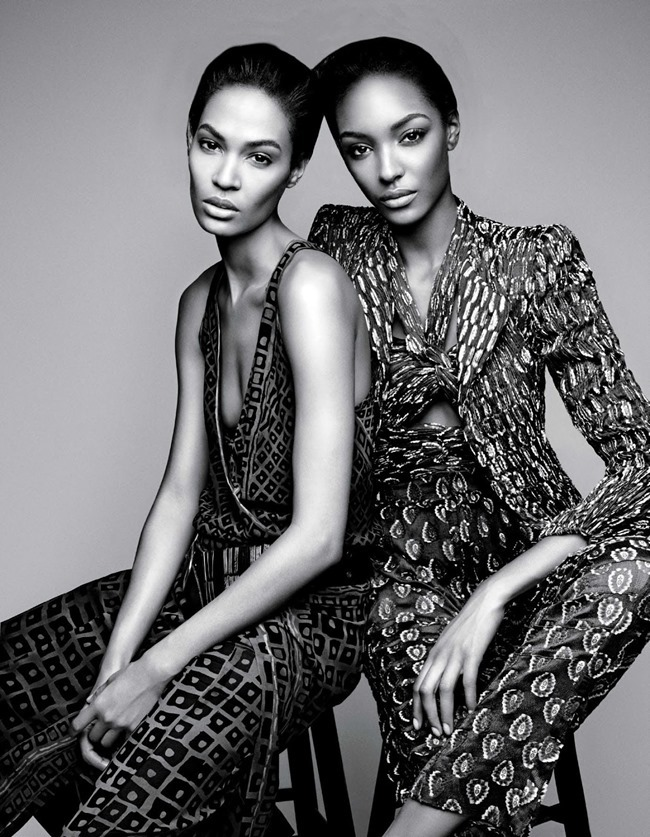 W MAGAZINE Jourdan Dunn & Joan Smalls in Spare Me by Patrick Demarchelier. Patrick Mackie, February 2014, www.imageamplified.com, Image amplified (6)