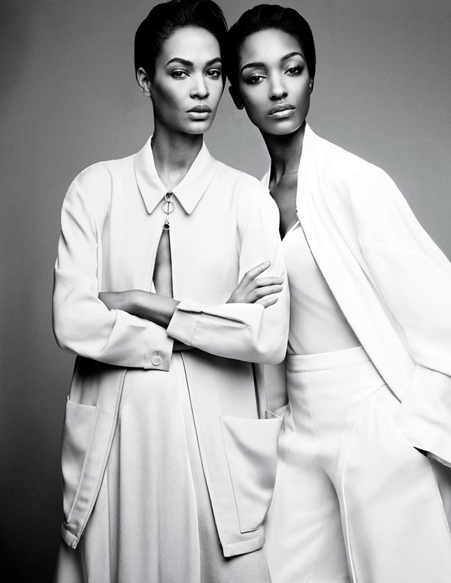 W MAGAZINE Jourdan Dunn & Joan Smalls in Spare Me by Patrick Demarchelier. Patrick Mackie, February 2014, www.imageamplified.com, Image amplified (1)