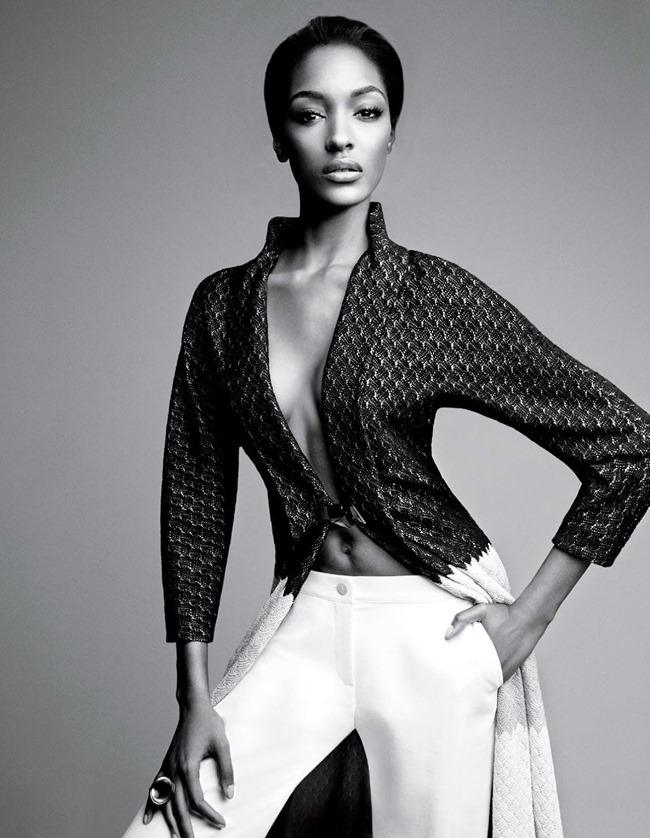 W MAGAZINE Jourdan Dunn & Joan Smalls in Spare Me by Patrick Demarchelier. Patrick Mackie, February 2014, www.imageamplified.com, Image amplified (2)