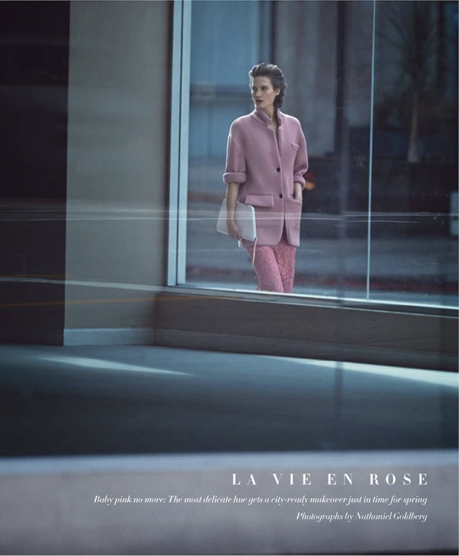 HARPER'S BAZAAR MAGAZINE Drake Burnette in La Vie En Rose by Nathaniel Goldberg. Clare Richardson, February 2014, www.imageamplified.com, Image Amplified (2)