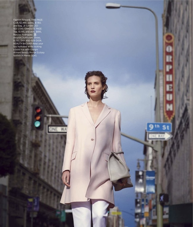 HARPER'S BAZAAR MAGAZINE Drake Burnette in La Vie En Rose by Nathaniel Goldberg. Clare Richardson, February 2014, www.imageamplified.com, Image Amplified (3)