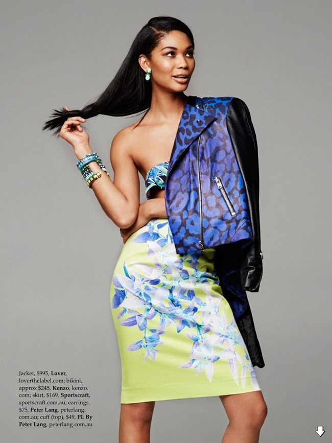 ELLE AUSTRALIA Chanel Iman in Tropical Punch by Pierre Toussaint. Nicole Bonython-Hines, February 2014, www.imageamplified.com, image Amplified (10)