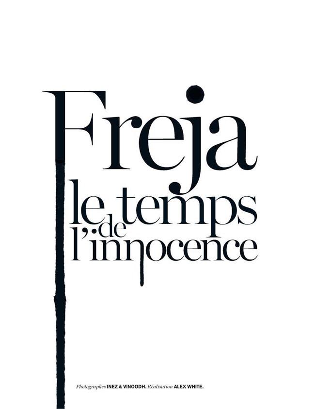 VOGUE PAIRS Freja Beha Erichsen in Le Temps De L'innocence by Inez & Vinoodh. Alex White, February 2014, www.imageamplified.com, Image Amplified (1)